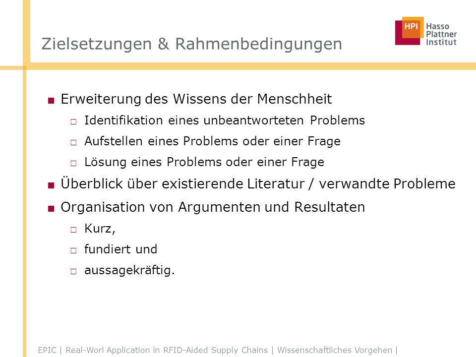 Zielsetzungen & Rahmenbedingungen Research for Dummies a.k.a.