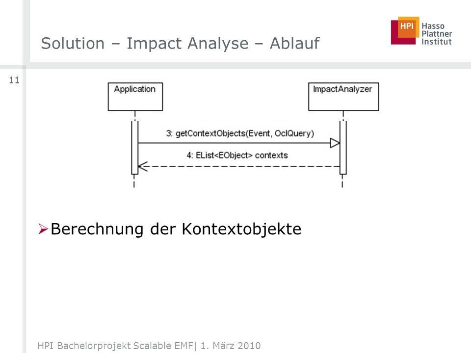 Berechnung der Kontextobjekte Solution – Impact Analyse – Ablauf HPI Bachelorprojekt Scalable EMF| 1.