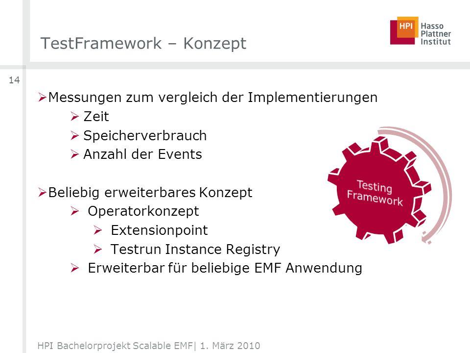 TestFramework – Konzept HPI Bachelorprojekt Scalable EMF| 1.