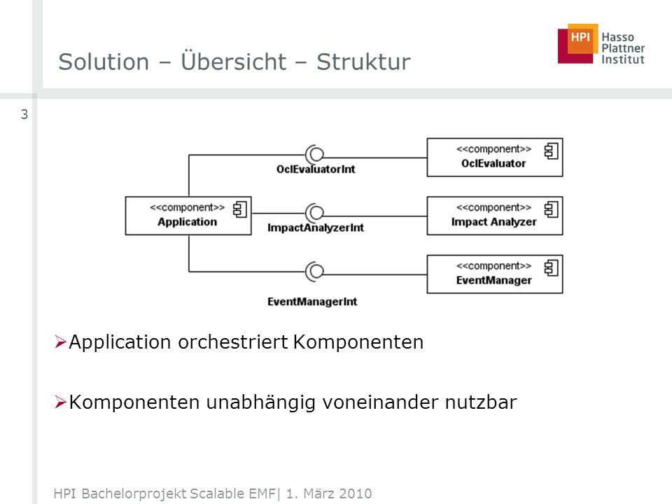 Solution – Übersicht – möglicher Ablauf HPI Bachelorprojekt Scalable EMF  1. März 2010 4