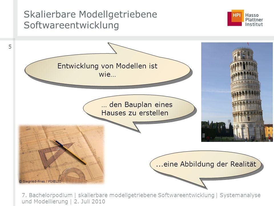 Skalierbare Modellgetriebene Softwareentwicklung 5 7. Bachelorpodium | skalierbare modellgetriebene Softwareentwicklung | Systemanalyse und Modellieru