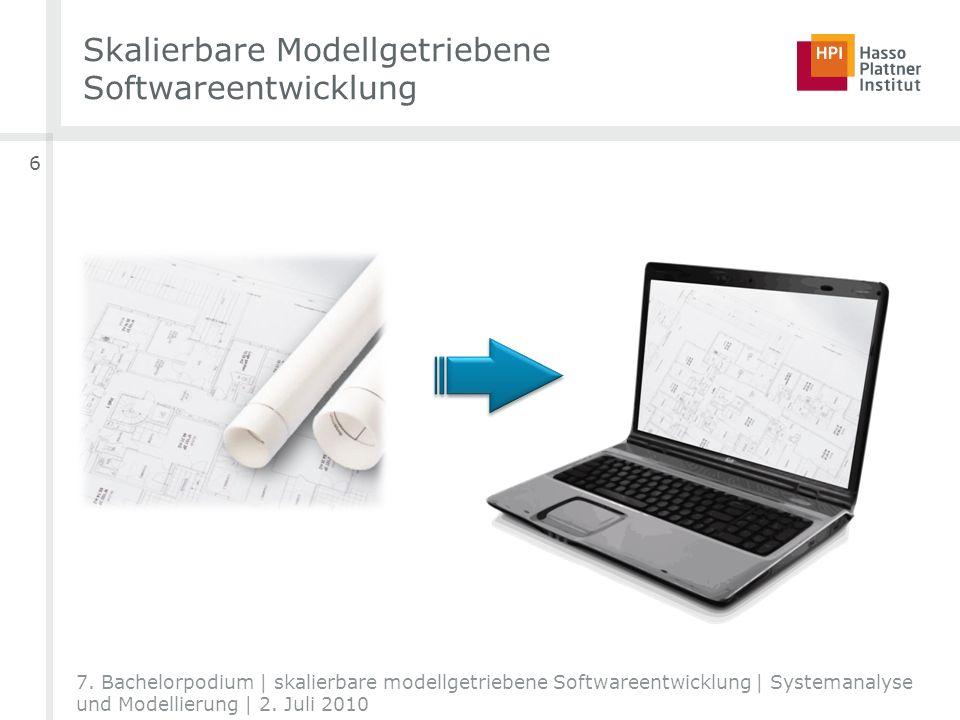 Skalierbare Modellgetriebene Softwareentwicklung 6 7. Bachelorpodium | skalierbare modellgetriebene Softwareentwicklung | Systemanalyse und Modellieru