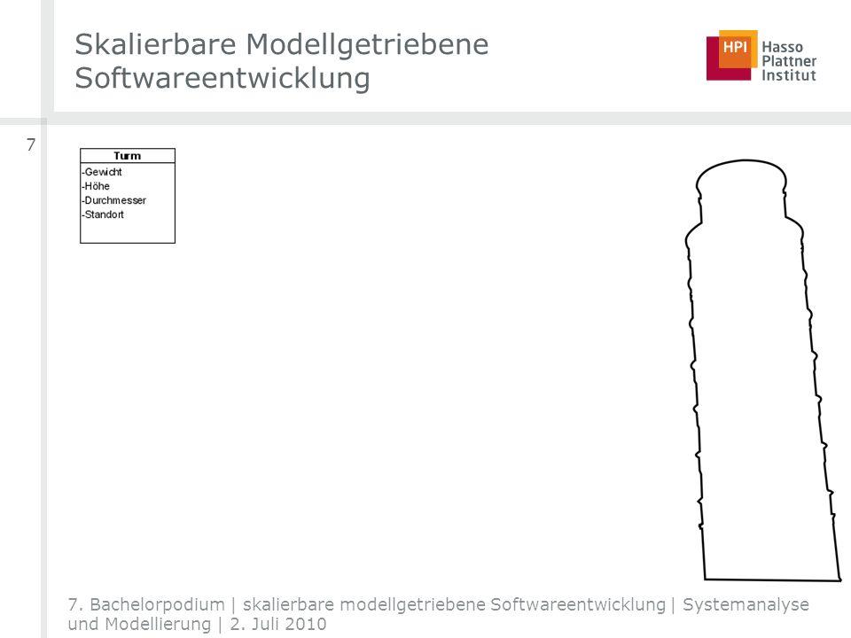 Skalierbare Modellgetriebene Softwareentwicklung 7 7. Bachelorpodium | skalierbare modellgetriebene Softwareentwicklung | Systemanalyse und Modellieru