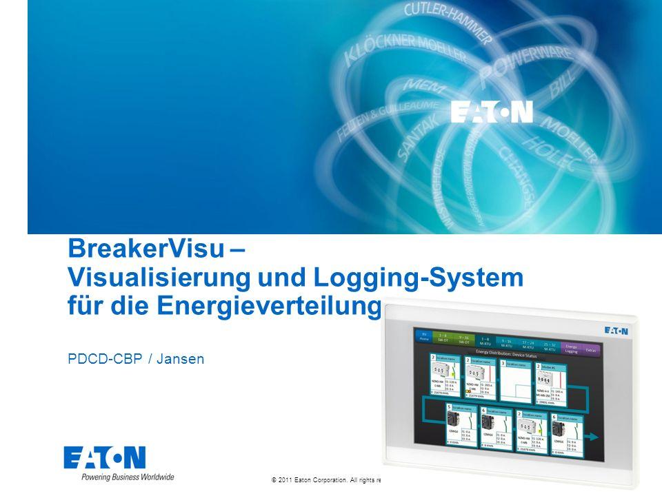 © 2011 Eaton Corporation. All rights reserved. BreakerVisu – Visualisierung und Logging-System für die Energieverteilung PDCD-CBP / Jansen