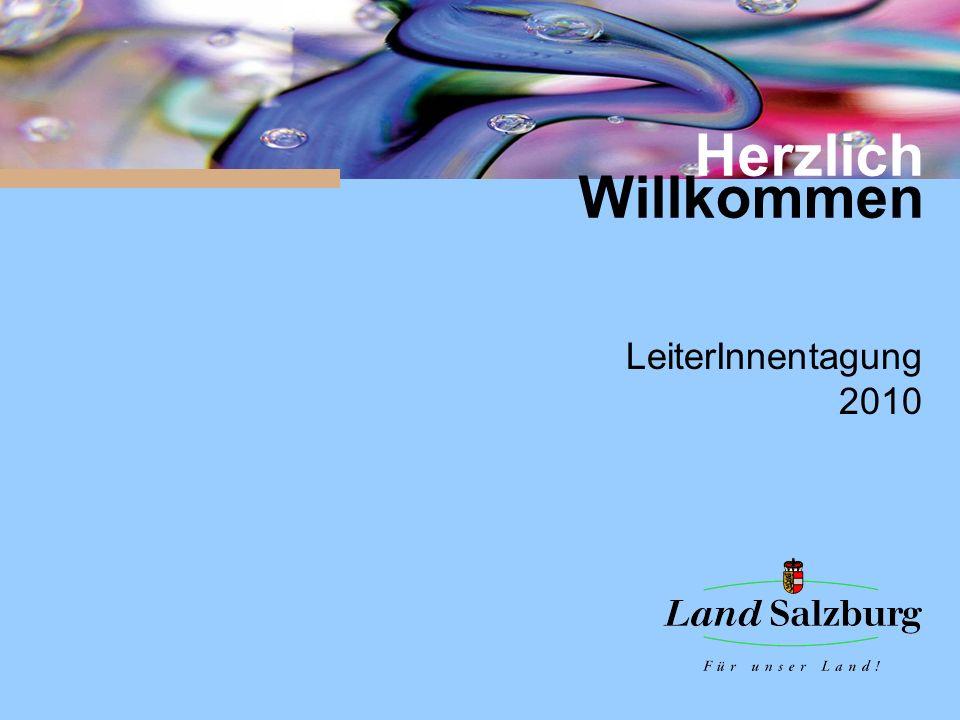 Herzlich Willkommen LeiterInnentagung 2010