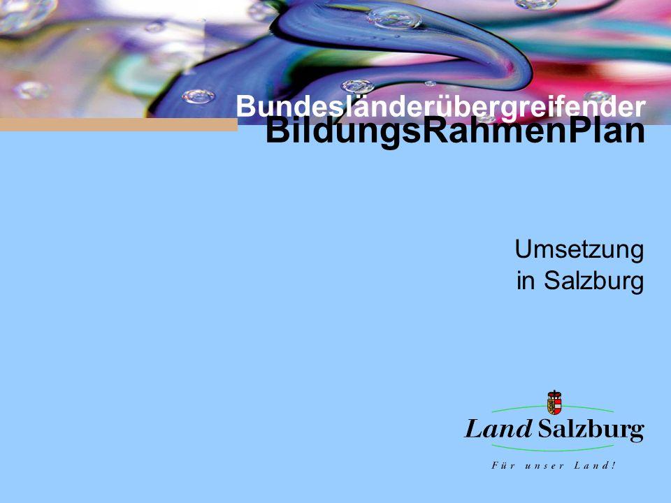 Bundesländerübergreifender BildungsRahmenPlan Umsetzung in Salzburg