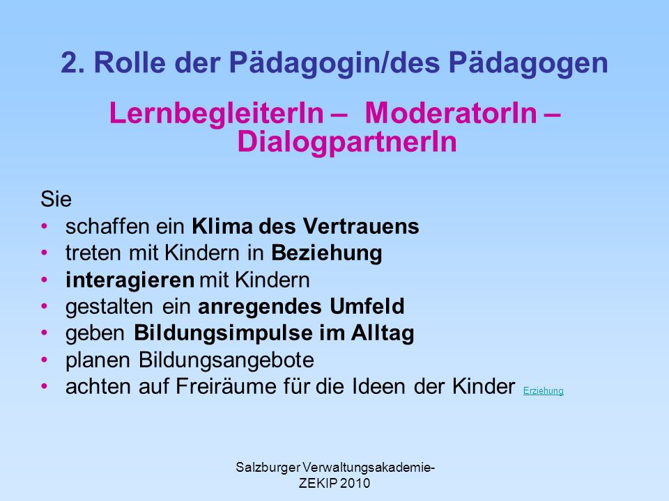 Salzburger Verwaltungsakademie- ZEKIP 2010 2.