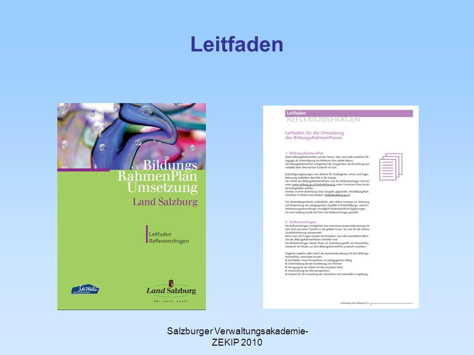 Salzburger Verwaltungsakademie- ZEKIP 2010 Leitfaden