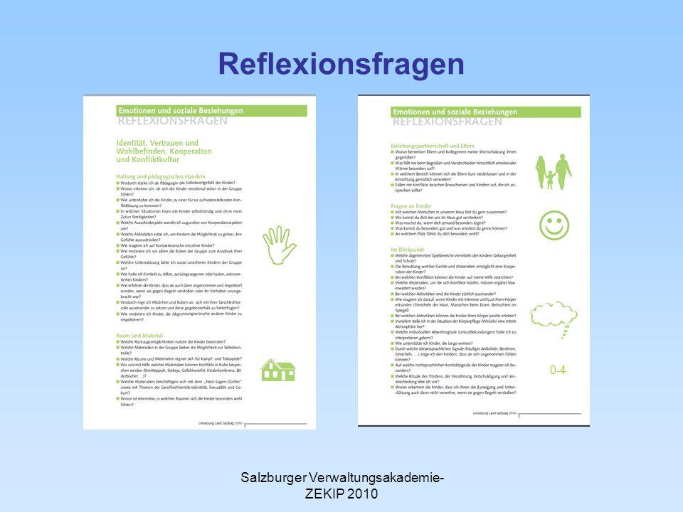 Salzburger Verwaltungsakademie- ZEKIP 2010 Reflexionsfragen 0-4