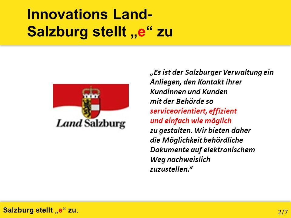 Die Kommunikation muss in beide Richtungen gehen Salzburg stellt e zu.