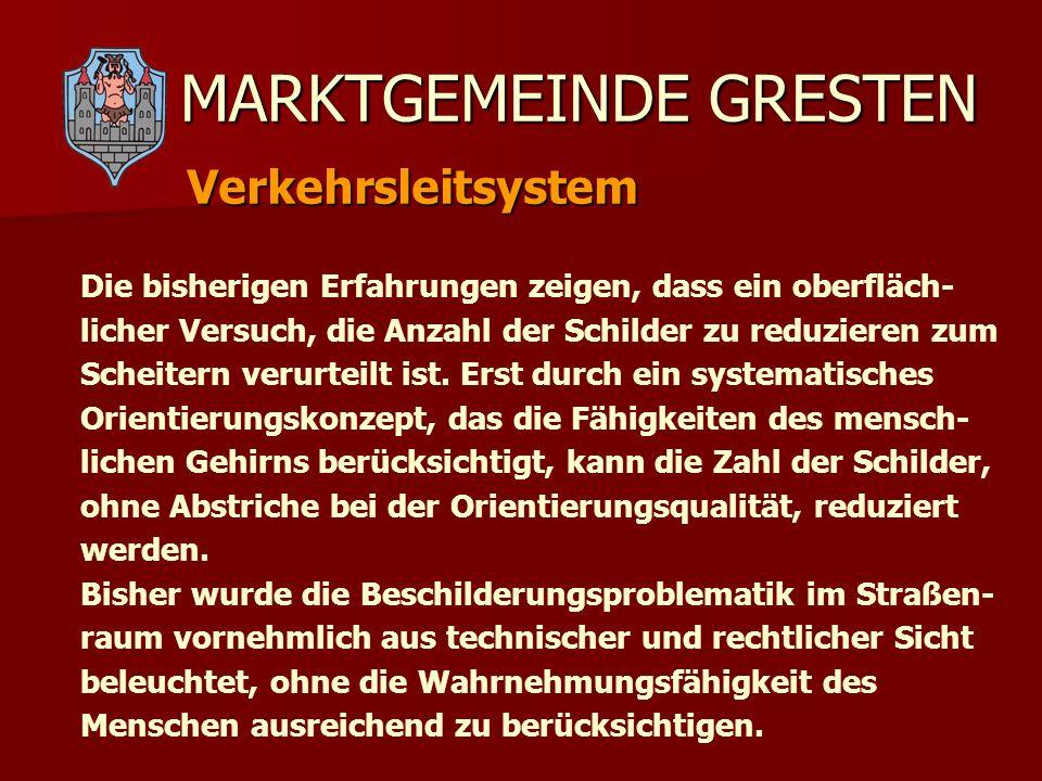 MARKTGEMEINDE GRESTEN GRESTEN präsentiert sich Eigenwerbung der Vereine: Eigendarstellung der Vereine und Unternehmen Plakate in Schaukästen, Spannrahmen, Fahnen……..