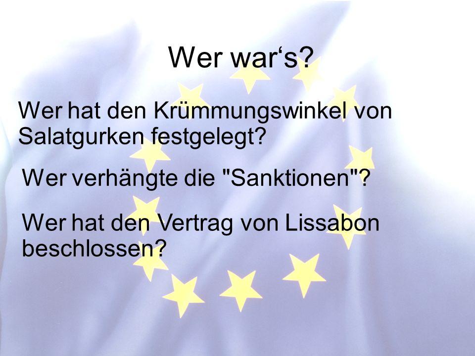 © Stefan Mayer / EK 2010 Wer wars.Wer verhängte die Sanktionen .