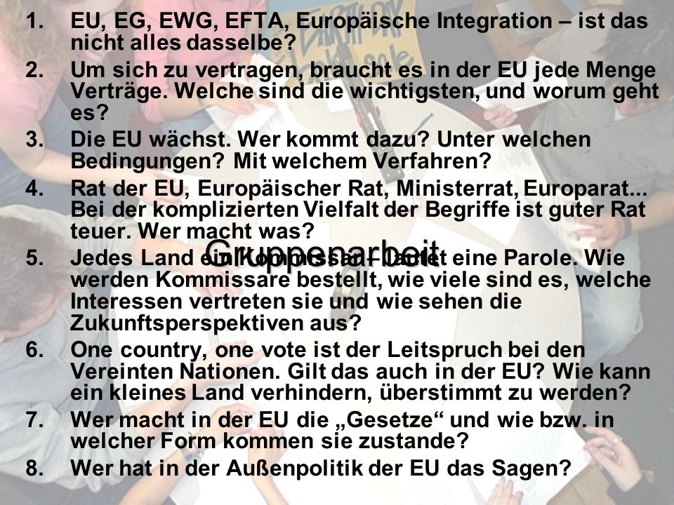 © Stefan Mayer / EK 2010 Präsentation Gruppen bilden Schriftführer/in und Präsentator/in bestimmen 45 Minuten Gruppenarbeit Flipchart, Kärtchen etc. P