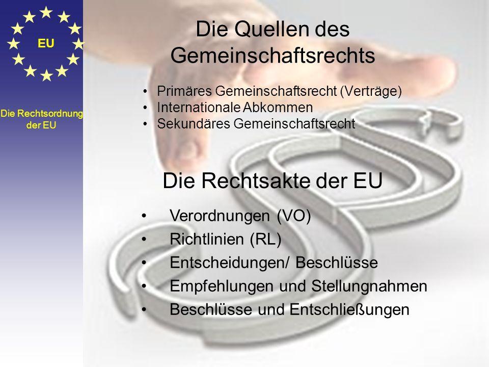 EU Der Wirschafts- und Sozialausschuss und der Ausschuss der Regionen Der WSA besteht aus Vertretern der verschiedenen wirtschaftlichen und sozialen B