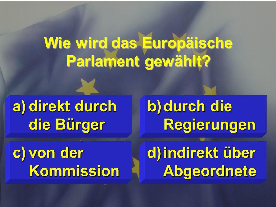 © Stefan Mayer / EK 2010 Welche sechs Staaten sind Gründungsmitglieder der heutigen EU ? c)D, GB, I, F, E, L d)F, GB, I, E, P, GR a)D, B, NL, F, I, L