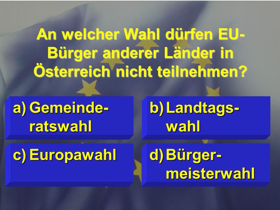 © Stefan Mayer / EK 2010 Wofür steht EUROPOL ? c)Europäisches Polizeiamt d)Beitrittsver- trag von Polen a)Europäische Politik b)Förderprogramm für Pol