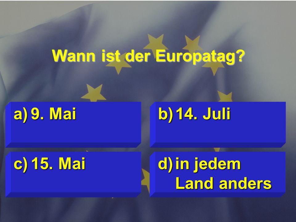 © Stefan Mayer / EK 2010 Wie lange amtiert die Kommission ? c)wie die EP- Wahlperiode d)6 Jahre a)5 Jahre b)4 Jahre
