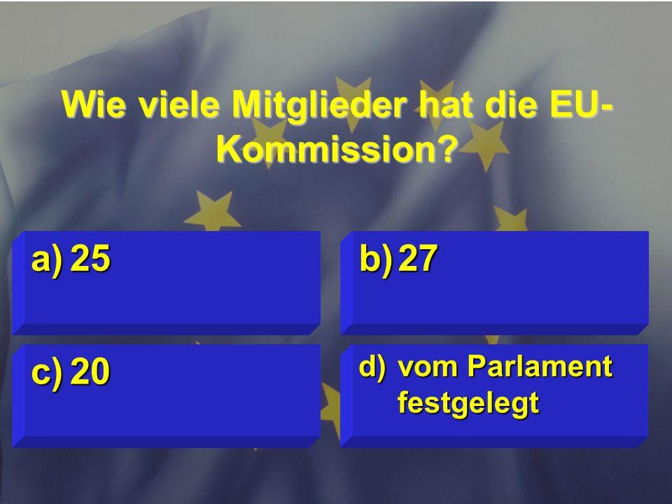 © Stefan Mayer / EK 2010 Wann ist der Europatag? c)15. Mai d)in jedem Land anders a)9. Mai b)14. Juli