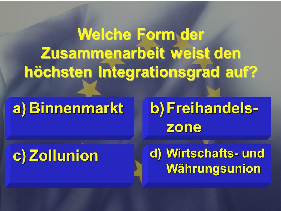 © Stefan Mayer / EK 2010 Wie viele Mitglieder hat die EU- Kommission? c)20 d)vom Parlament festgelegt a)25 b)27