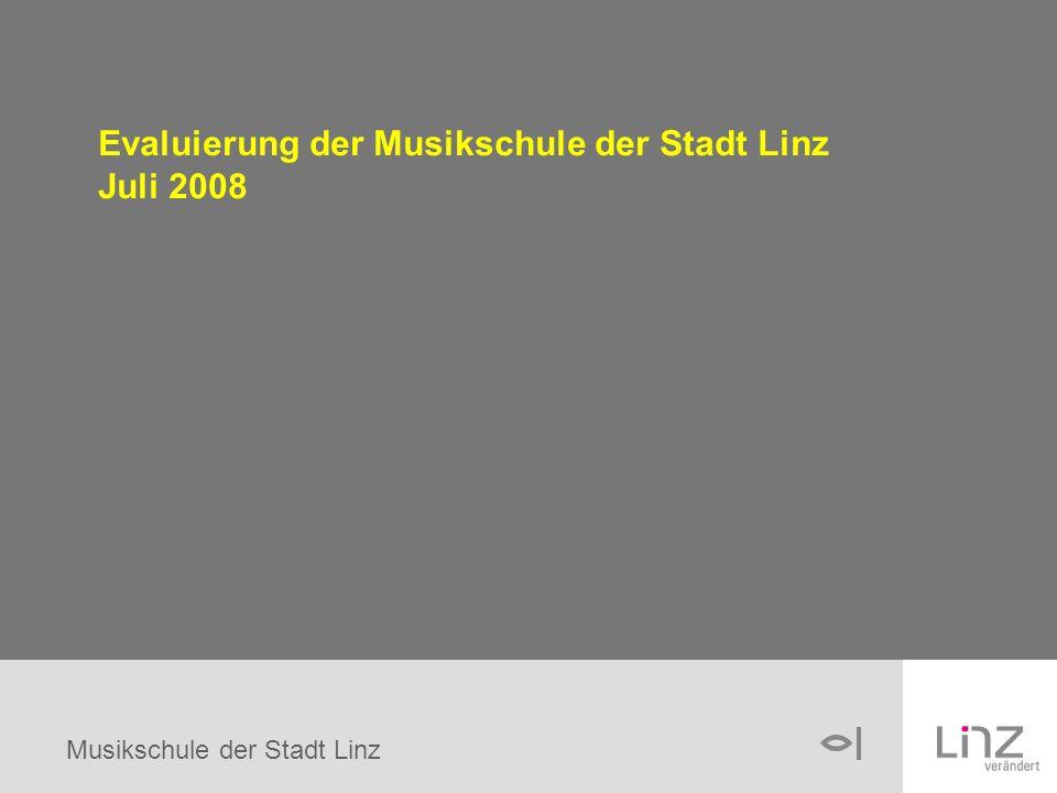 Musikschule der Stadt Linz Evaluierung der Musikschule der Stadt Linz Juli 2008