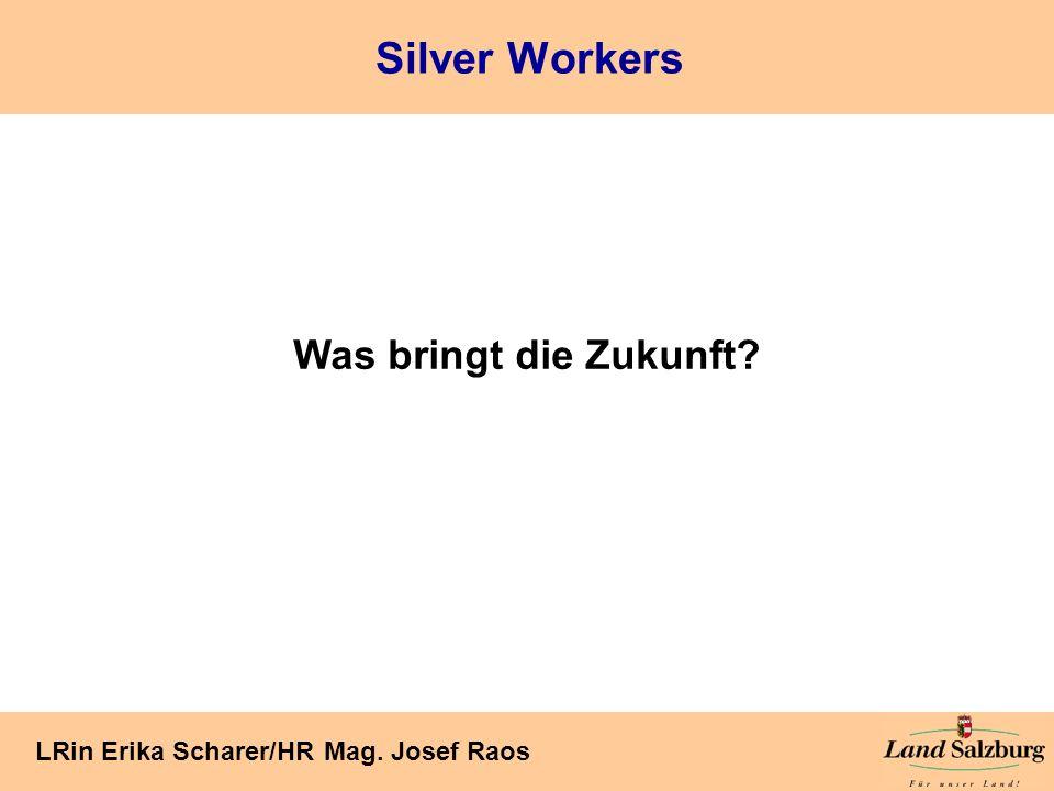 Seite 12 LRin Erika Scharer/HR Mag. Josef Raos Silver Workers Was bringt die Zukunft?