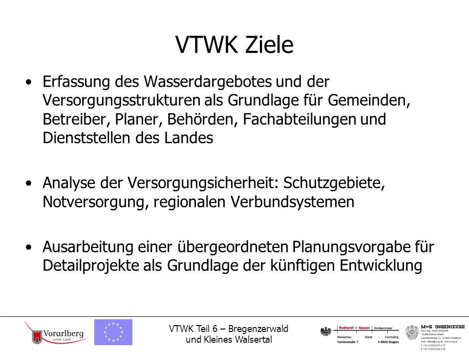 VTWK Teil 6 – Bregenzerwald und Kleines Walsertal VTWK Übersicht der Bearbeitungsgebiete