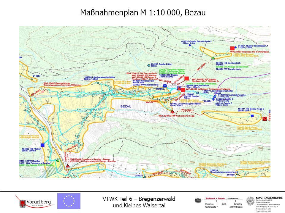 VTWK Teil 6 – Bregenzerwald und Kleines Walsertal Maßnahmenplan M 1:10 000, Bezau