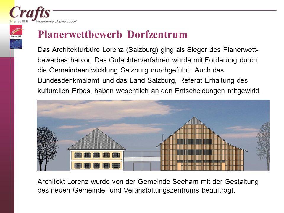Seehams künftiges Gemeinde-, Veranstaltungs-, Kultur-, Biobauern- und Handwerkszentrum Schaubild: Arch.