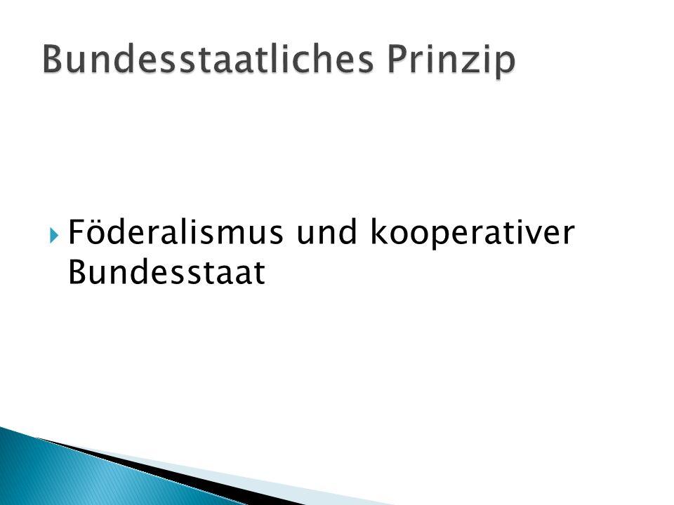 Föderalismus und kooperativer Bundesstaat