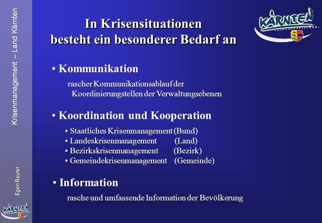 Krisenmanagement – Land Kärnten Egon Rauter