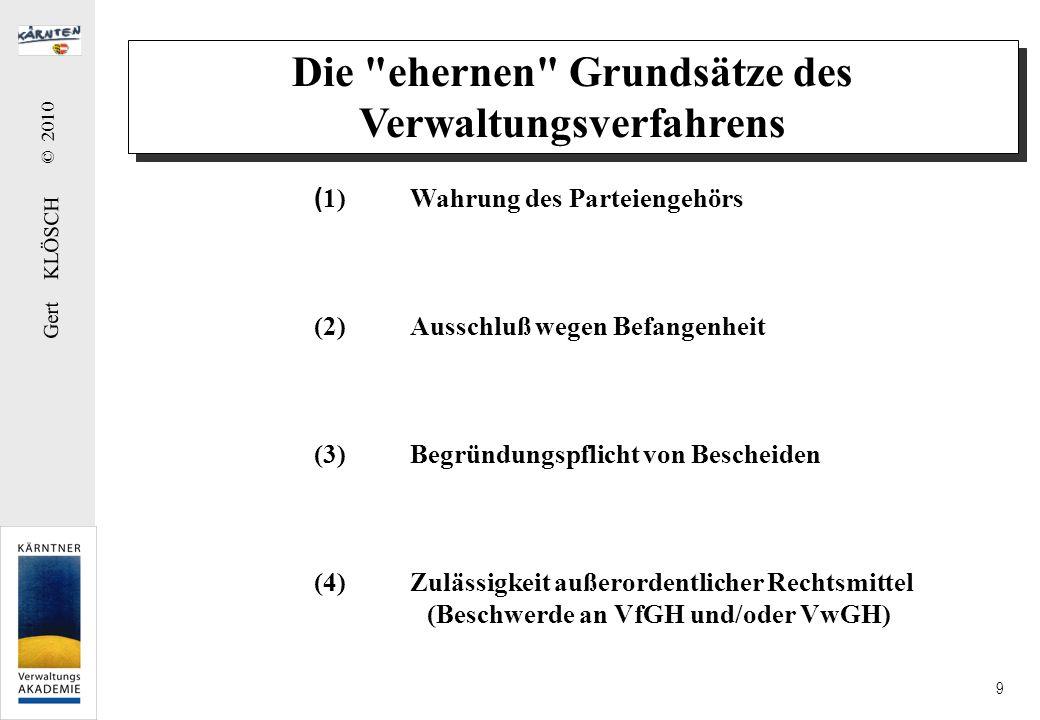 Gert KLÖSCH © 2010 9 Die