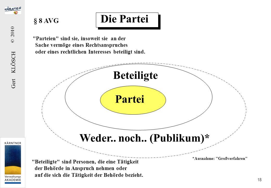 Gert KLÖSCH © 2010 18 Die Partei