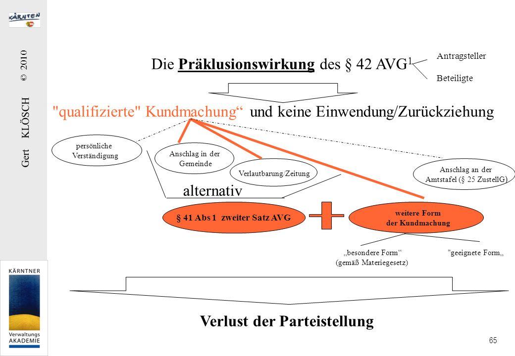 Gert KLÖSCH © 2010 65 Antragsteller Beteiligte