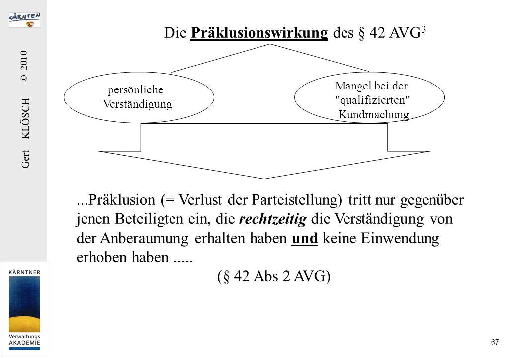 Gert KLÖSCH © 2010 67 persönliche Verständigung Mangel bei der