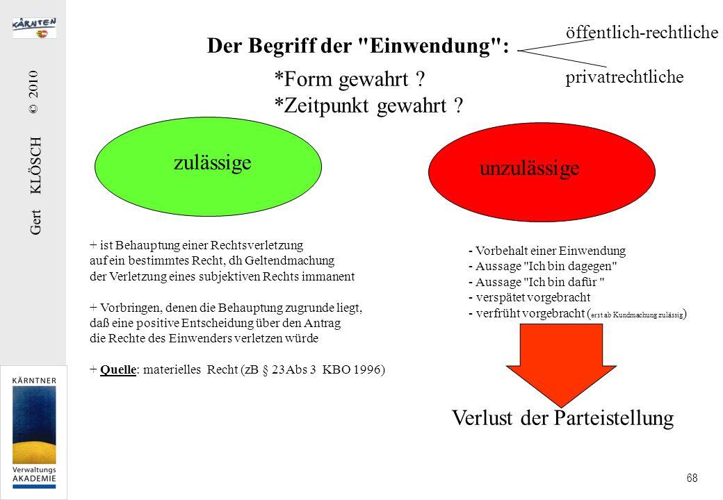 Gert KLÖSCH © 2010 68 Der Begriff der