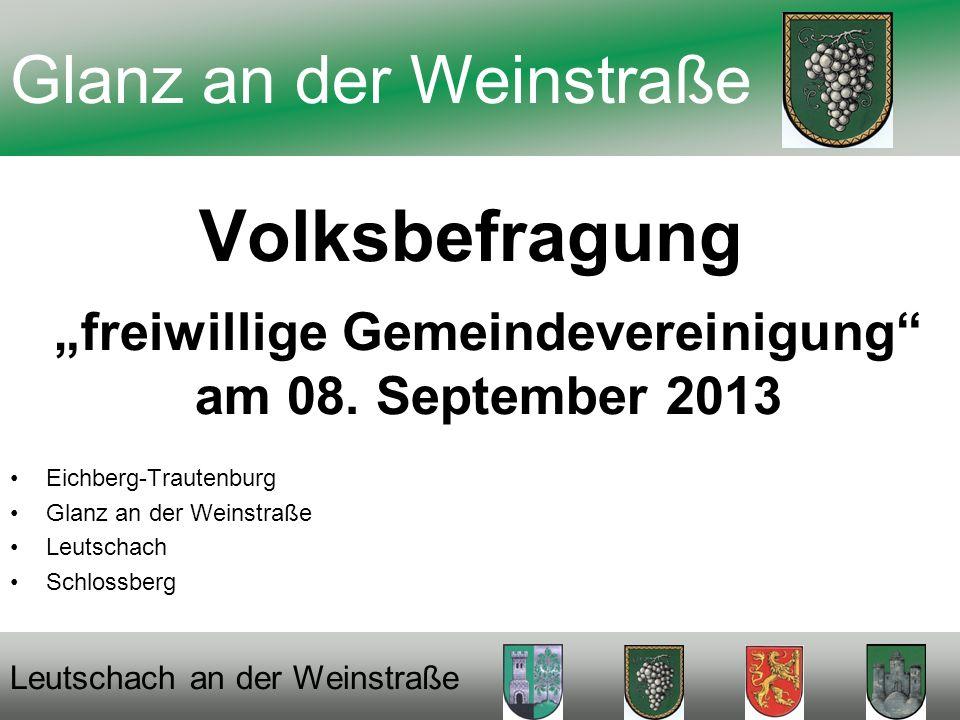 Volksbefragung freiwillige Gemeindevereinigung am 08.