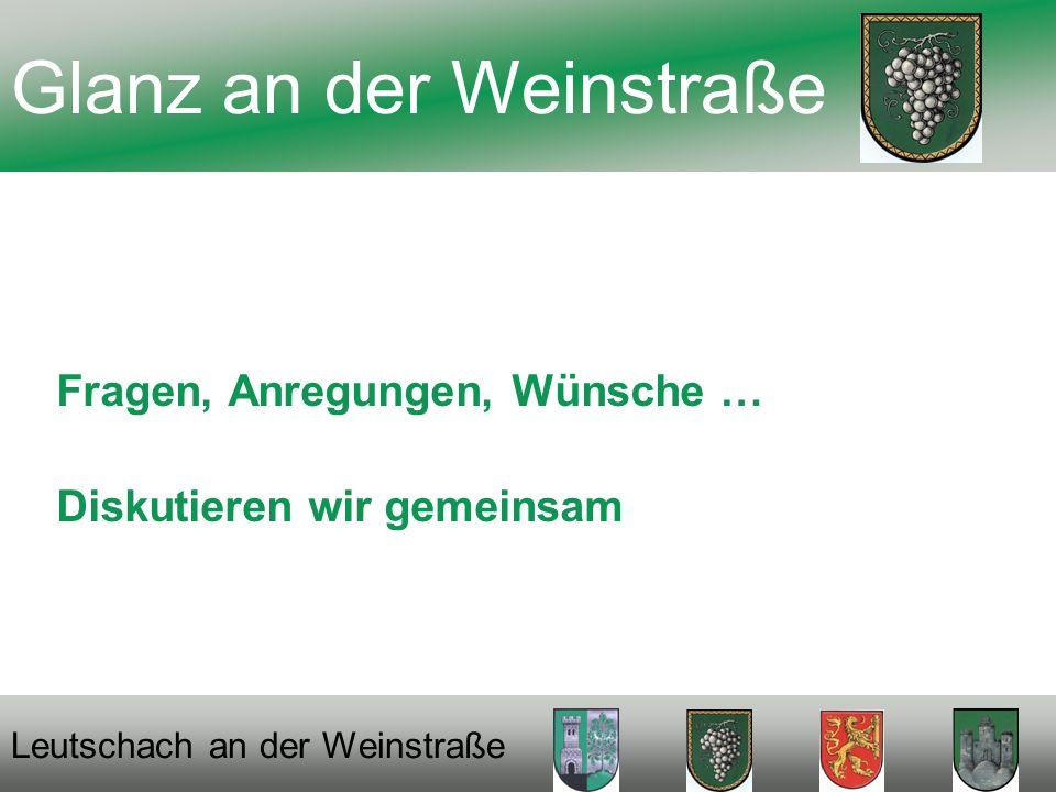 Fragen, Anregungen, Wünsche … Diskutieren wir gemeinsam Glanz an der Weinstraße Leutschach an der Weinstraße