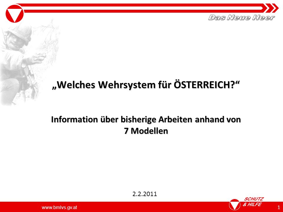www.bmlvs.gv.at 1 Welches Wehrsystem für ÖSTERREICH.