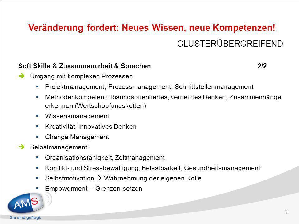 8 Soft Skills & Zusammenarbeit & Sprachen 2/2 Umgang mit komplexen Prozessen Projektmanagement, Prozessmanagement, Schnittstellenmanagement Methodenko