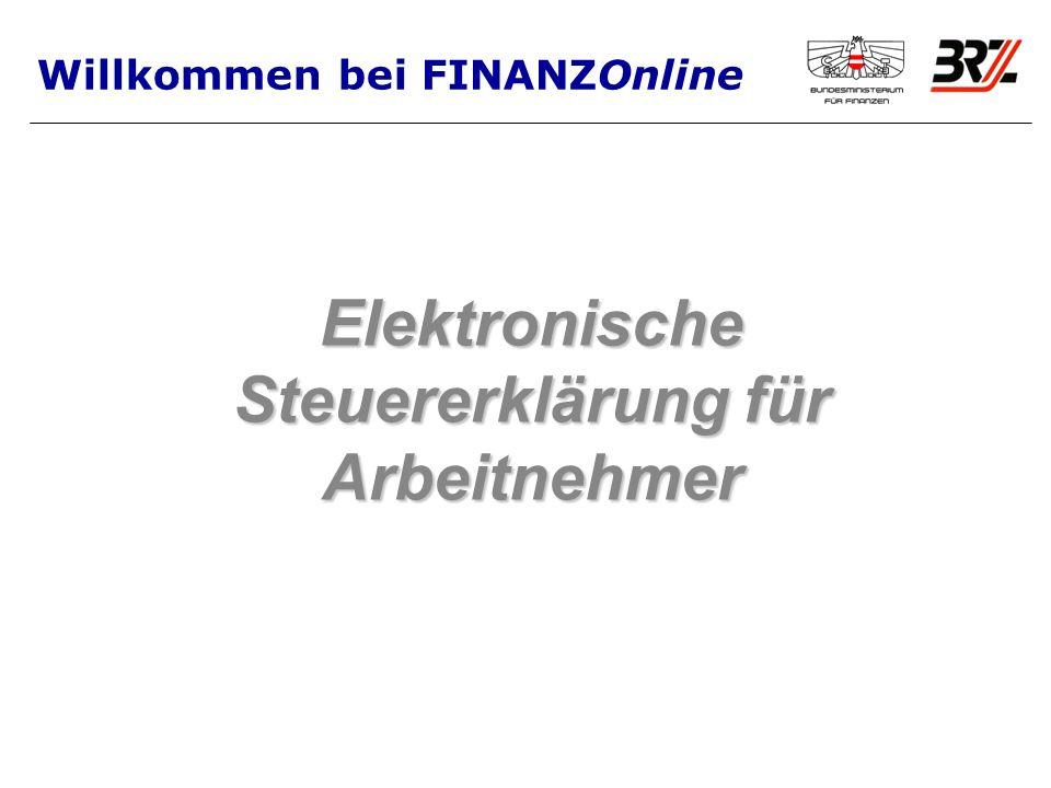 Elektronische Steuererklärung für Arbeitnehmer Willkommen bei FINANZOnline