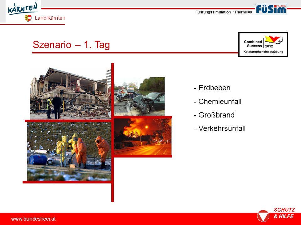 www.bundesheer.at SCHUTZ & HILFE Szenario – 1.