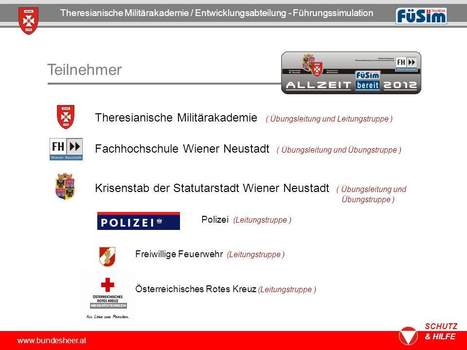 www.bundesheer.at SCHUTZ & HILFE Übungsorganisation Theresianische Militärakademie / Entwicklungsabteilung - Führungssimulation