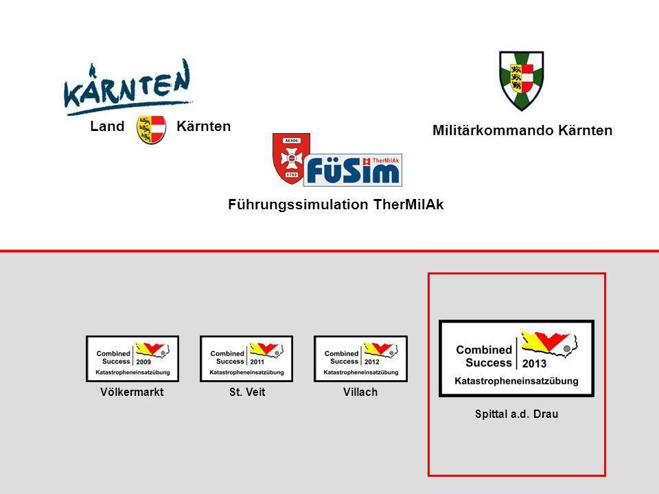 Führungssimulation TherMilAk St. VeitVölkermarktVillach Spittal a.d. Drau Land Kärnten Militärkommando Kärnten