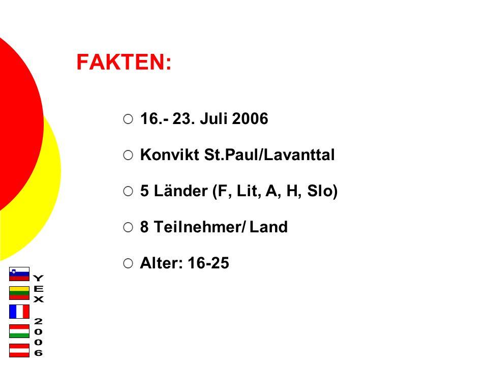 FAKTEN: 16.- 23.