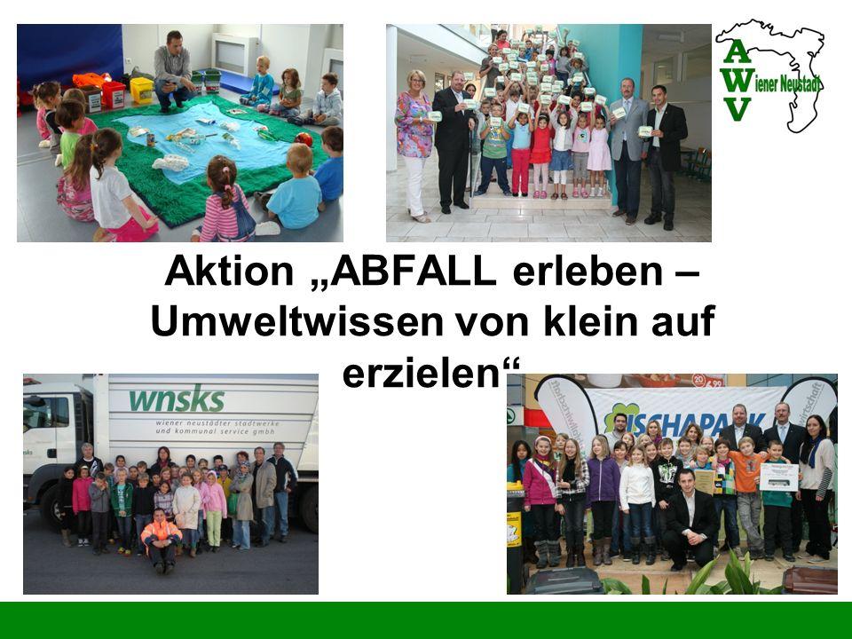 Aktion ABFALL erleben – Umweltwissen von klein auf erzielen