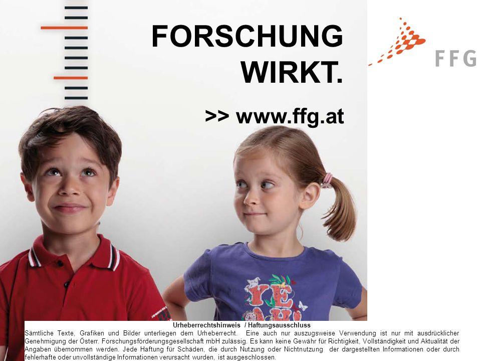 Seite 8© FFG 2011 FORSCHUNG WIRKT.