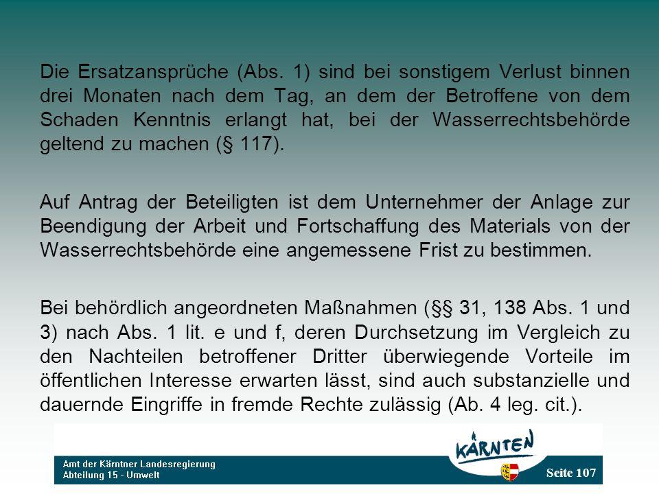 Seite 107 Die Ersatzansprüche (Abs.