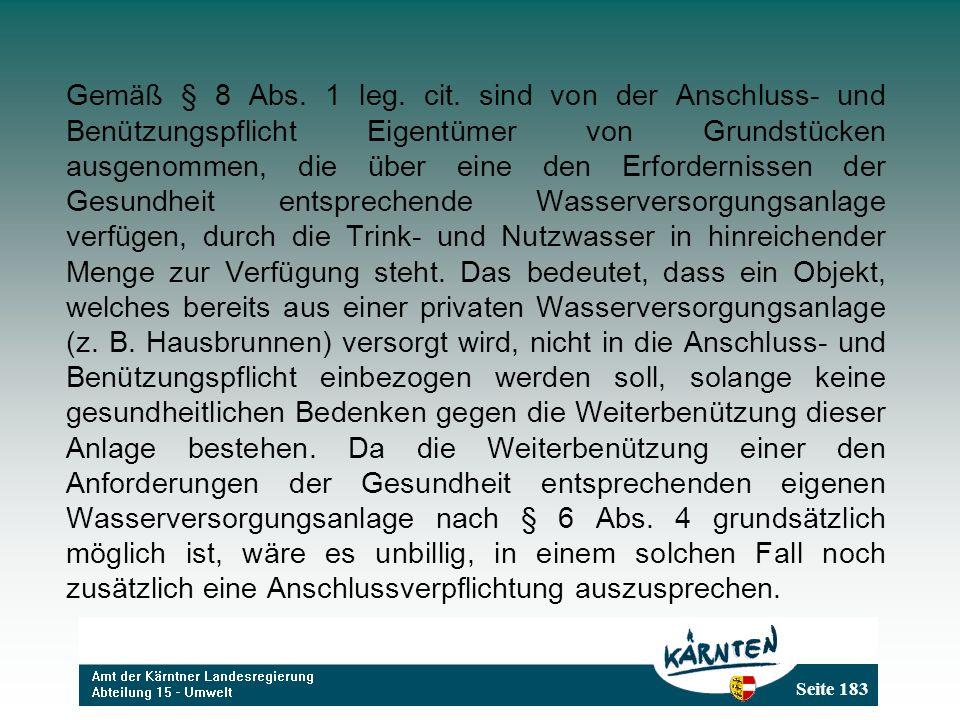 Seite 183 Gemäß § 8 Abs.1 leg. cit.