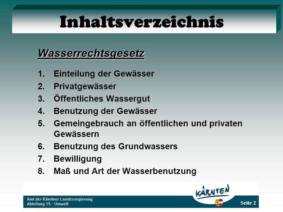 Seite 33 Benutzung des Grundwassers Gemäß § 10 Abs.
