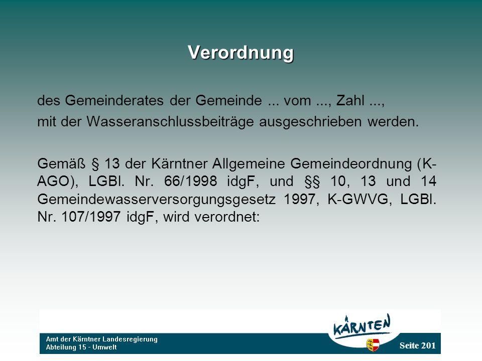 Seite 201 Verordnung des Gemeinderates der Gemeinde...
